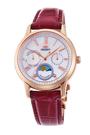 [Y21潮流精品] 新款!ORIENT 東方錶 SUN&MOON系列 日月相錶 皮帶款 棗紅色 RA-KA0001A