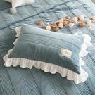 【限時下殺89折】冬季珊瑚絨加厚保暖單信封枕套一只裝枕頭皮夾棉拉鍊款48*74