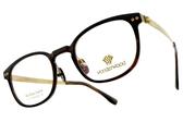 WONDERWOOD 光學眼鏡 W03 C2 (灰棕-金) 典雅復古流線款 #金橘眼鏡