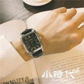 手錶男學生潮流大氣方形復古皮帶休閑氣質男錶