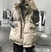 羽絨馬甲 2021冬款韓版休閒羽絨棉短款馬甲女加厚保暖學生時尚馬夾面包服潮 伊蒂斯