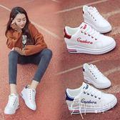小白鞋  2018春秋季新款百搭韓版白鞋子內增高小白鞋女厚底學生板鞋休閑鞋