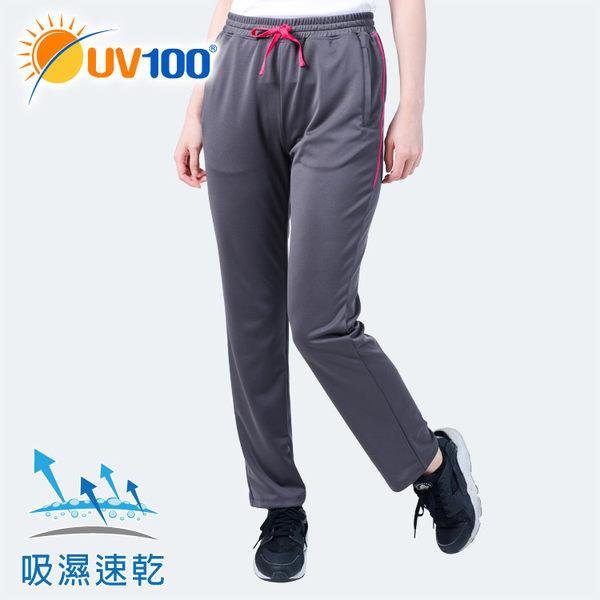 UV100 防曬 抗UV-休閒舒適直筒褲-女