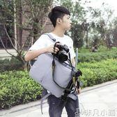 攝影包 多功能數碼相機包側開後背微單反背包佳能尼康攝影戶外攝影包男女    非凡小鋪