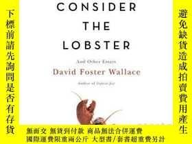 二手書博民逛書店英文原版罕見思考龍蝦 大衛·福斯特·華萊士 David Foster Wallace: Consider the
