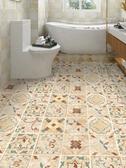 衛生間防水地板貼紙自粘瓷磚墻貼浴室廚房地面裝飾花磚貼耐磨防滑