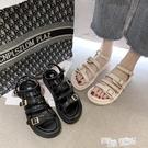 網紅時裝涼鞋仙女風ins潮2020年夏季新款學生百搭厚底鬆糕羅馬鞋 魔法鞋櫃