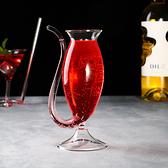 快速出貨 紅酒杯-北歐創意吸管杯紅酒杯 【快速出貨】
