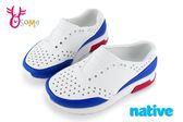 native LENNOX BLOCK 洞洞鞋 小雷諾系列 中小童 休閒鞋 K9476#白藍◆OSOME奧森童鞋