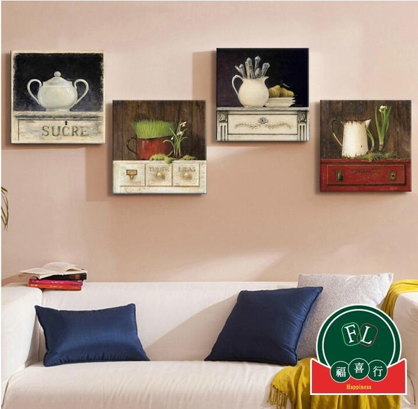 【單幅】客廳沙發抽象無框畫背景墻裝飾畫餐廳墻畫壁畫【福喜行】