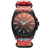 DIESEL 都會叢林個性運動腕錶-橘