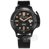GIORGIO FEDON 1919 / GFCL007 /  限量 鎳鐵隕石 機械錶 潛水錶  防水200米 真皮手錶 橘黑色 45mm