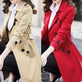 春秋季新款女裝韓版修身小個子風衣女大碼中長款chic大衣外套  9號潮人館