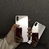 手機殼補妝自拍鏡子 蘋果X手機殼新款iPhone7/8plus鏡面玻璃殼6s潮 曼莎時尚