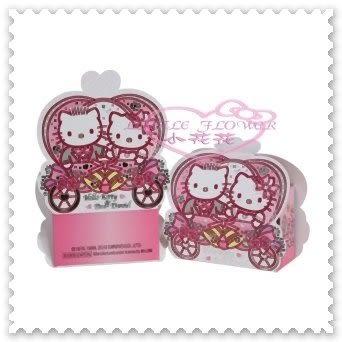 小花花日本精品♥ Hello Kitty&Daniel精緻西式結婚禮車雙面圖禮物小盒 包裝盒(6入) 11301707