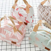 【BlueCat】梯形繡吊牌 動物條紋廚具 帆布手提便當袋 保溫袋
