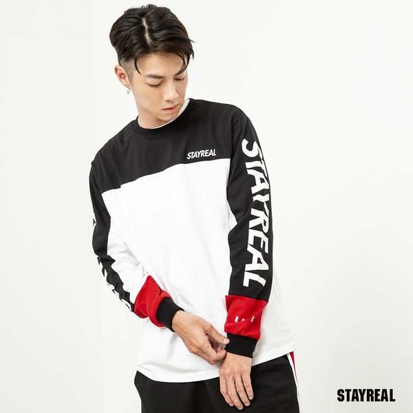 STAYREAL 潮運動跳色長T