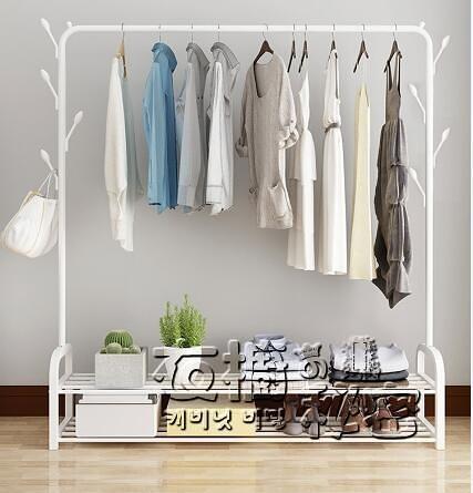 簡易晾衣架落地摺疊臥室內單桿涼衣桿掛衣架宿舍學生用曬衣服架子 創意家居生活館