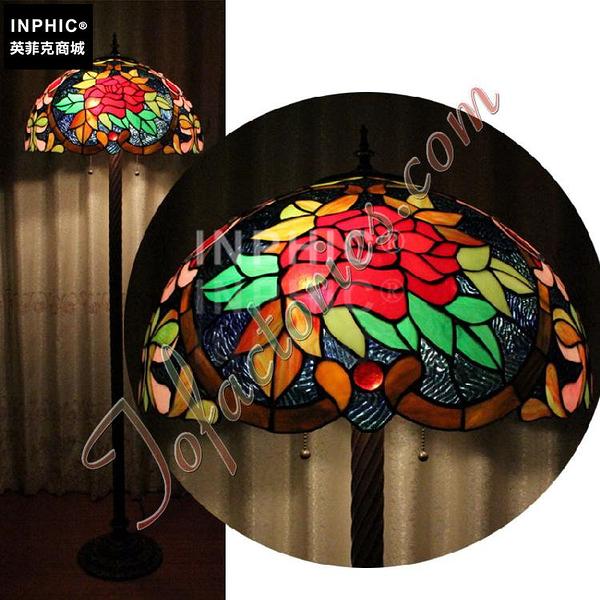 INPHIC-大紅玫瑰花婚慶結婚落地燈純手工彩色玻璃燈罩臥室燈飾_S2626C