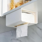 紙巾盒廚房無痕貼抽紙盒墻上壁掛式紙巾架創意簡約塑料多功能廁所紙巾盒