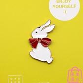 兔子 胸針 可愛動物 徽章 胸章 飾品 扣針配飾【匯美優品】