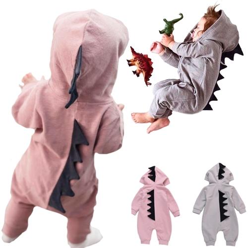 長袖連身衣 嬰兒恐龍連帽 包屁衣 W71032 AIB小舖