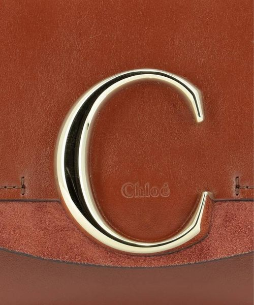 ■專櫃78折 ■Chloe C Mini 迷你小牛皮兩用包 酒紅色
