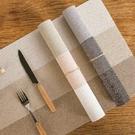 日式三色拼接餐墊 家用 客廳 廚房 防水 隔熱墊 防燙墊 餐桌墊【RS1120】