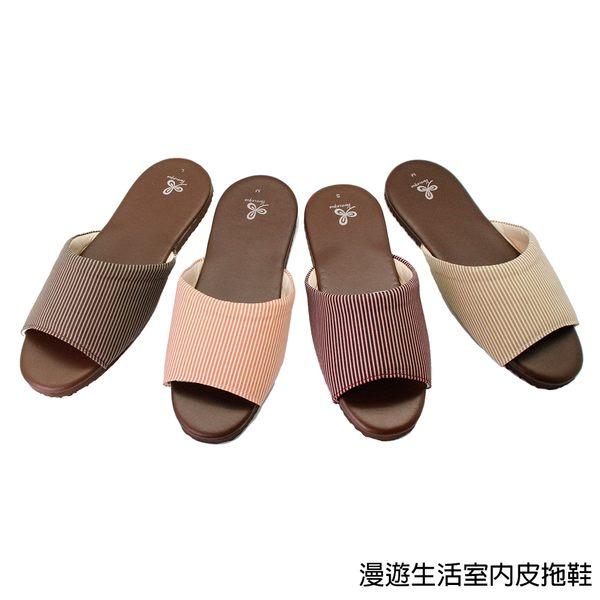 【333家居鞋館】好評回購★漫遊生活室內皮拖鞋-紅色