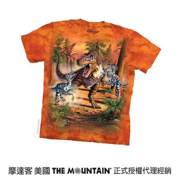 【摩達客】(預購)(男童/女童裝)美國進口The Mountain 恐龍之戰 純棉環保短袖T恤(10416045079a)