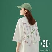 日系短袖t恤女韓版寬鬆夏裝上衣復古百搭半袖【Kacey Devlin】
