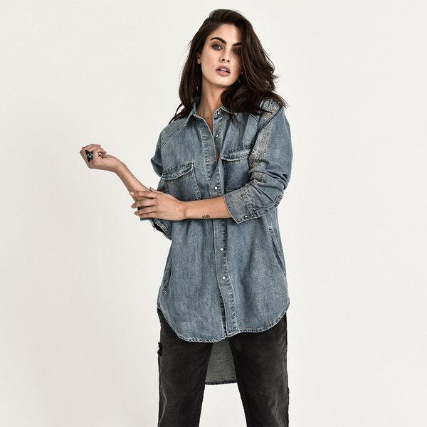 ONETEASPOON DESERT BONES SHIRT 襯衫-女(藍)