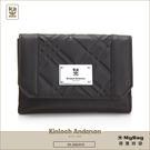 Kinloch Anderson 金安德森 皮夾 英國女爵  黑色 菱格壓紋中夾 女用錢包 KA156106 MyBag得意時袋