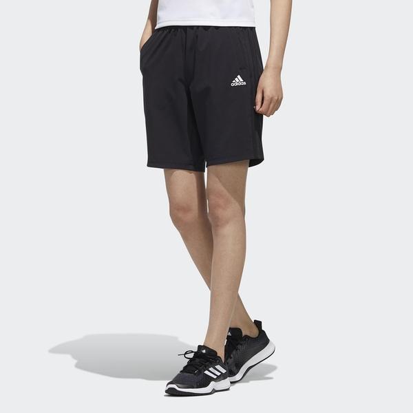 【現貨】ADIDAS 3-STRIPES 女裝 短褲 慢跑 訓練 透氣 彈性 拉鍊口袋 白LOGO 黑【運動世界】FT2884