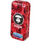(特價 效期 2019年1月 ) 杜蕾斯 超薄裝衛生套 更薄型12入 限量Aape紅 紅迷彩鐵盒限定版
