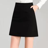 包臀裙 春夏新款黑色高腰西裝一步裙正裝工作半身裙子a字短裙西裙職業群 雙12狂歡