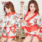角色扮演 情趣內睡衣 情趣用品 櫻花紛飛!迷惑女人香日式和服浴袍三件組