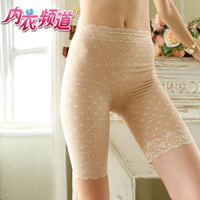內衣頻道♥6673-台灣製 機能無痕鎖邊 緹花修飾 提臀塑腰長管束褲-S/M/L/XL -膚,黑色