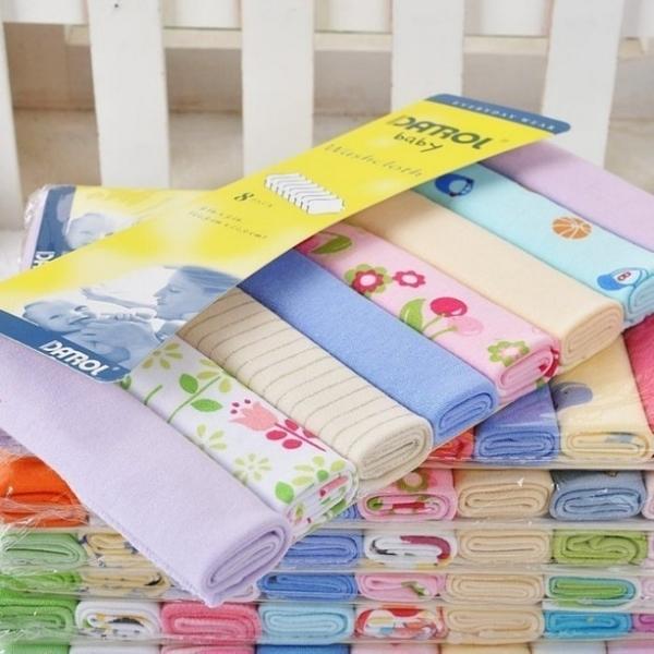 漂亮小媽咪 方巾八件組 【BW2714MTN】 毛巾 寶寶 小手帕 餵奶巾 毛巾料 手帕 八件組