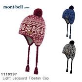 【速捷戶外】日本 mont-bell 1118397  Tibetan 西藏式提花保暖罩耳帽,滑雪,登山,賞雪,旅遊