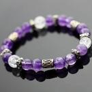 【喨喨飾品】紫水晶/白水晶手鍊 智慧之石A183