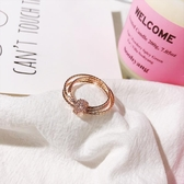冷淡風玫瑰金食指戒指女日韓潮人裝飾指環