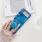 三星 Z Flip 3 手機殼 ZFlip3 5G 保護殼 藍光相機造型 支架 手機套 防摔矽膠套 保護套