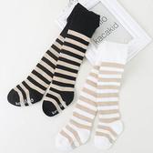 百搭金絲條紋止滑襪底包腳褲襪 童襪 襪子 童裝
