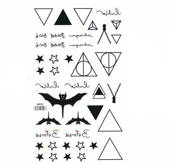 薇嘉雅 星星 扁蝠 超炫圖案紋身貼紙 HM952