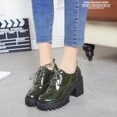 紳士鞋秋冬季新款英倫風少女小皮鞋女士鞋子中跟粗跟高跟鞋學生單鞋 【新品推薦】