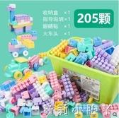 兒童積木拼裝玩具益智大顆粒男孩大號寶寶智力開發拼插塑料legao NMS蘿莉小腳丫