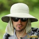 防曬帽子-抗紫外線UV防潑水可對折遮陽高頂漁夫帽+可拆式披風J7244 JUNIPER