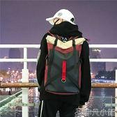 雙肩包街頭時尚嘻哈潮男女學生書包校園背包大容量旅行情侶     非凡小鋪
