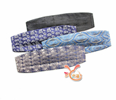 草魚妹-K1299整組花色西裝口袋巾西裝手帕巾領結糾糾組,單個腰封350元